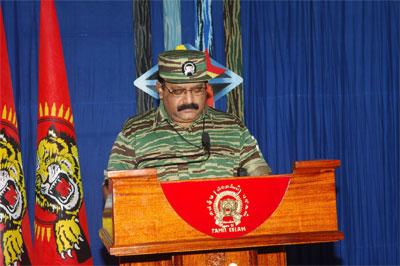 Tamil National Leader V. Pirapaharan's Heroes' Day speech Prabakaran