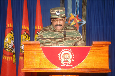 Tamil National leader Vellupillai Pirapakaran 2008 Heroes' Day speech Prabakaran