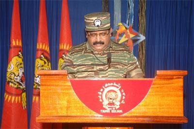 Tamil National leader Vellupillai Pirapakaran 2008 Heroes' Day speech Prabakaran