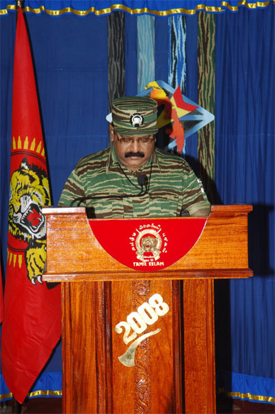 Tamil National Leader V. Pirapaharan's 2008 Heroes' Day speech Prabakaran