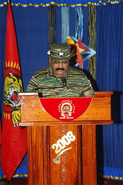 Tamil National Leader V. Pirapaharan's 2008 Heroes' Day speech Prabakaran