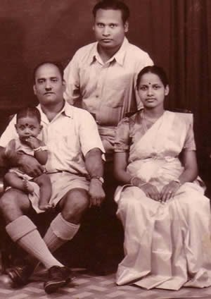 Arumugam Thiyagarajah 1910-1982 with 7 month Sachi Sri Kantha on lap in 1953